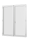 Rationel FORMAPLUS BASIC Terrassedør med vinduesprofil - 2-fløjet