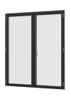 Rationel AURAPLUS PREMIUM Terrassedør med vinduesprofil - 2-fløjet
